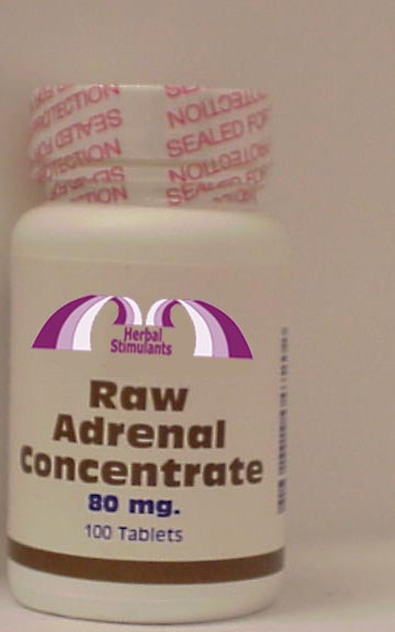 RAW ADRENAL CONCENTRATE: 100 Tablets