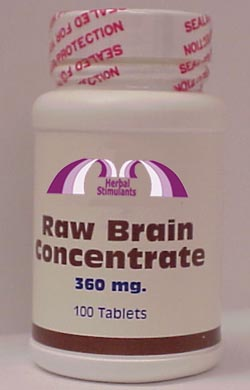 RAW BRAIN CONCENTRATE: 100 Tablets