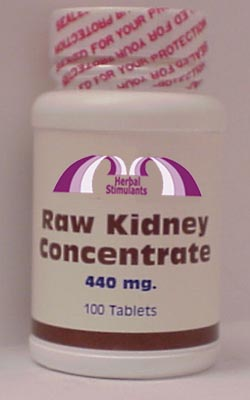 RAW KIDNEY CONCENTRATE: 100 Tablets