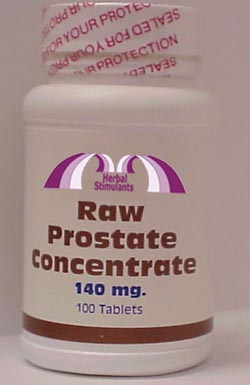 RAW PROSTATE CONCENTRATE: 100 Tablets