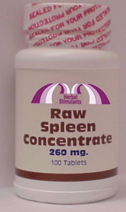 RAW SPLEEN CONCENTRATE: 100 Tablets