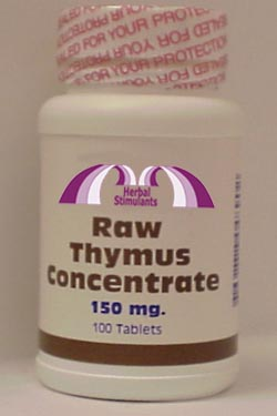 RAW THYMUS CONCENTRATE: 100 Tablets